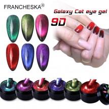 """Магнитен гел лак 9D """"Котешко око"""" 6 цвята с богати нюанси ZJY90"""