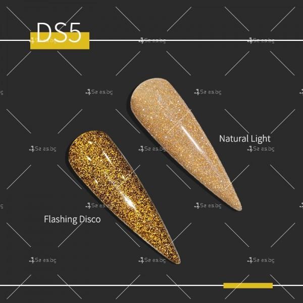 Гел – лак за нокти с диамантен блясък в 6 уникални цвята FRANCHESKA ZJY95 4