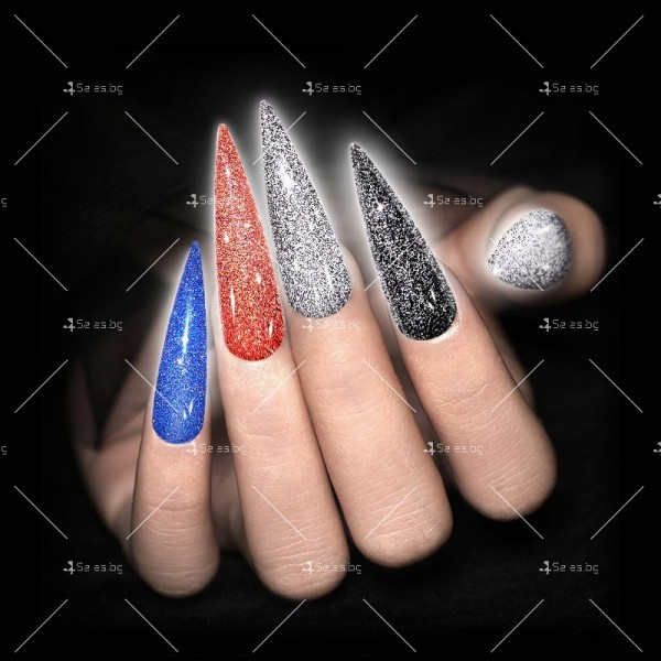 Гел – лак за нокти с диамантен блясък в 6 уникални цвята FRANCHESKA ZJY95 8