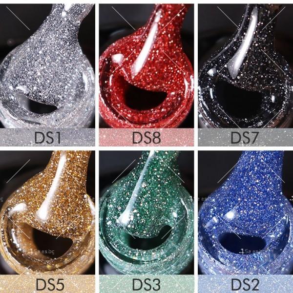 Гел – лак за нокти с диамантен блясък в 6 уникални цвята FRANCHESKA ZJY95 10