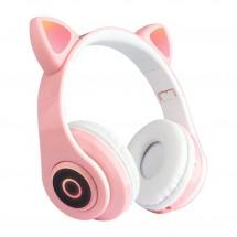 Безжични Bluetooth слушалки във формата на котка с мигащи LED светлини EP29