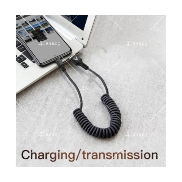 USB Кабел за бързо зареждане Techfuerza SC007 и пренос на данни CA22 9