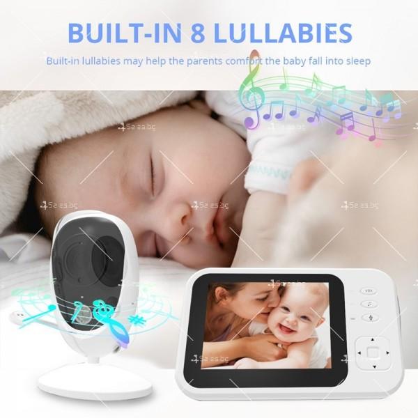 Бебефон с камера и 3,5 инчов LCD дисплей IP34 5