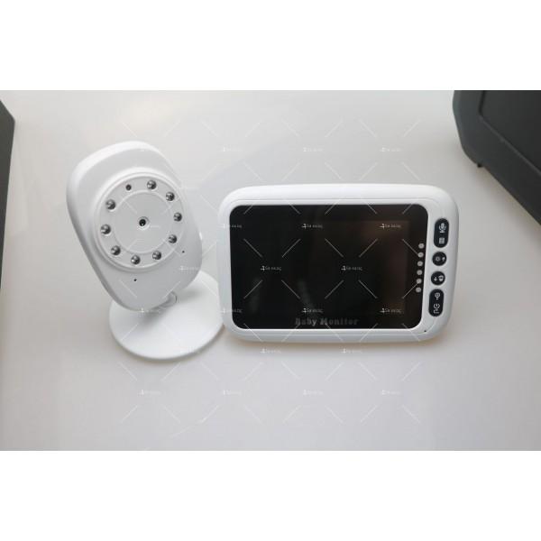 Безжичен бебефон с 4,3 инчов монитор с висока резолюция IP33 6