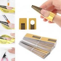Стикер шаблони за удължаване и оформяне на нокти с гел ZJY94