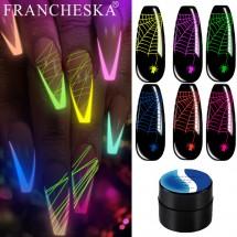 Луминисцентен спайдър гел лак за нокти за ефектно декориране ZJY104