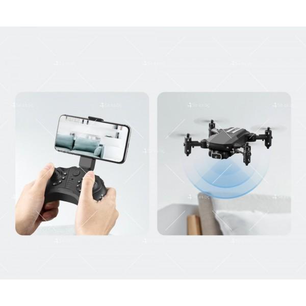 Мини дрон с HD камера, LED светлини и 4K резолюция DRON LS-MIN 4