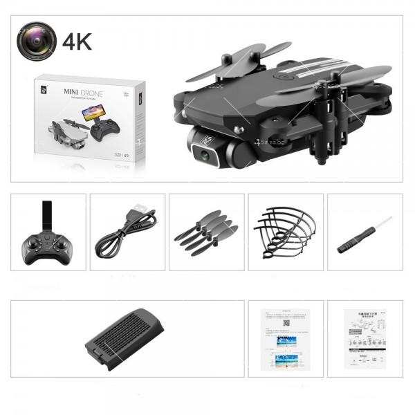 Мини дрон с HD камера, LED светлини и 4K резолюция DRON LS-MIN 6