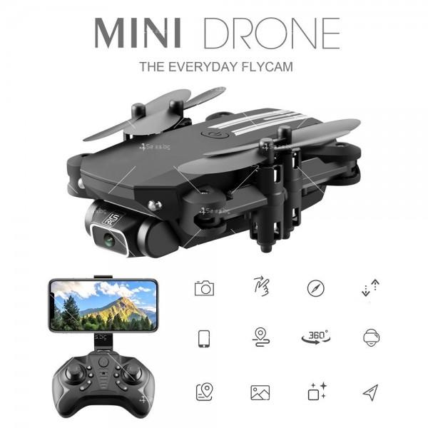 Мини дрон с HD камера, LED светлини и 4K резолюция DRON LS-MIN 13