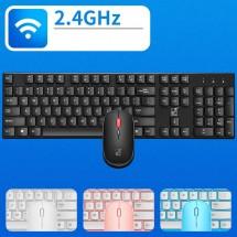 Безжични Wireless клавиатура и мишка за компютър KMT1