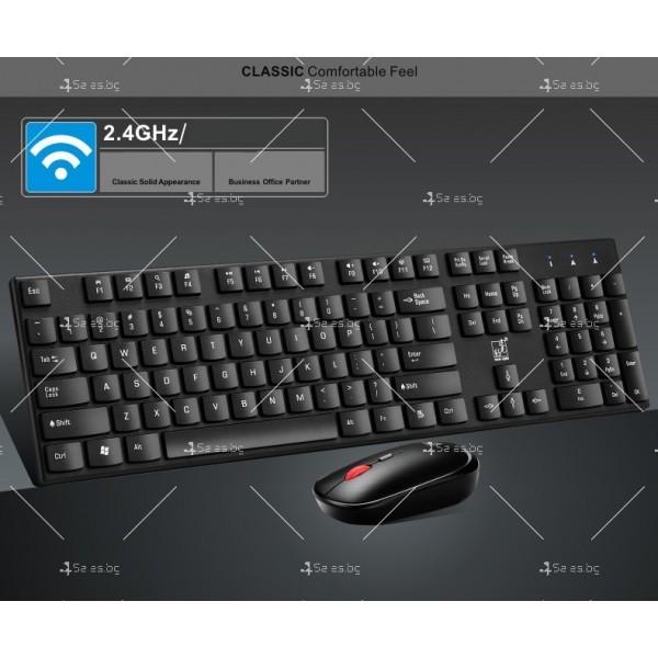 Безжични Wireless клавиатура и мишка за компютър KMT1 2