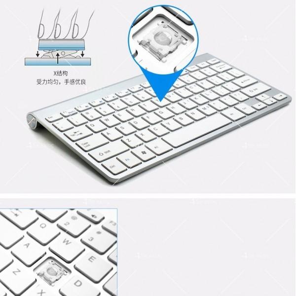 Ултра тънка Wireless клавиатура и оптична мишка за компютър KMT2 5