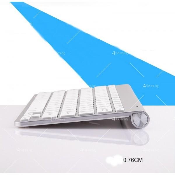 Ултра тънка Wireless клавиатура и оптична мишка за компютър KMT2 6