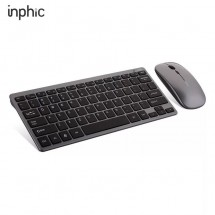 Супер тънка безжична и тиха клавиатура с мишка с презареждащи се батерии KMT5