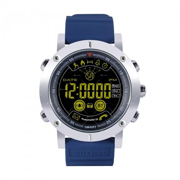 Мъжки смарт часовник с метален корпус и сменяема батерия SMW32