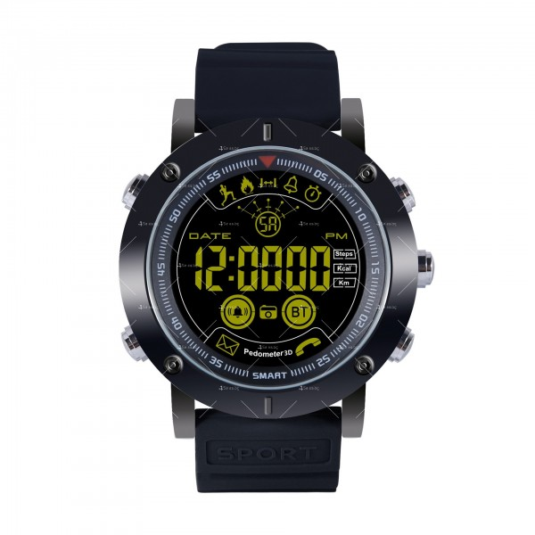 Мъжки смарт часовник с метален корпус и сменяема батерия SMW32 2