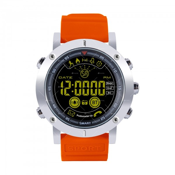 Мъжки смарт часовник с метален корпус и сменяема батерия SMW32 3