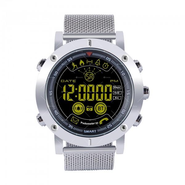 Мъжки смарт часовник с метален корпус и сменяема батерия SMW32 4