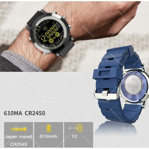 Мъжки смарт часовник с метален корпус и сменяема батерия SMW32 6