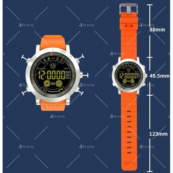 Мъжки смарт часовник с метален корпус и сменяема батерия SMW32 7