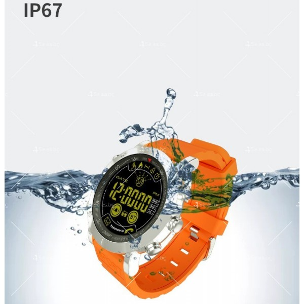 Мъжки смарт часовник с метален корпус и сменяема батерия SMW32 8