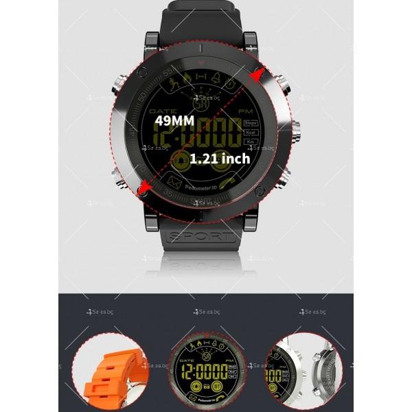Мъжки смарт часовник с метален корпус и сменяема батерия SMW32 9