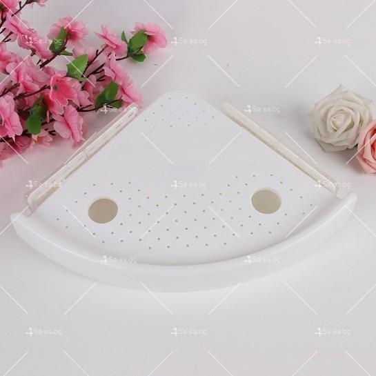 Многофункционален триъгълен рафт за баня или кухня