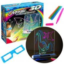 Магическа 3D дъска за рисуване със светлини и цветни маркери TV106