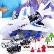 Комплект играчка самолет с писта за колички + 8 колички - WJ6 14