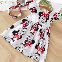Детска рокля с къс ръкав с Мини Маус