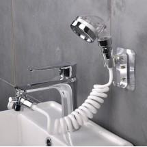 Душ за мивка с гъвкав маркуч със стенно окачване и накрайник за кран TV831