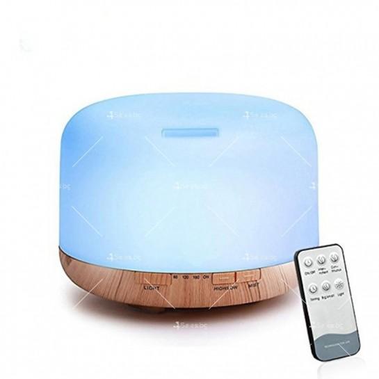 Арома дифузер, ултразвуков овлажнител за въздух със 7 цветни светлини TV833