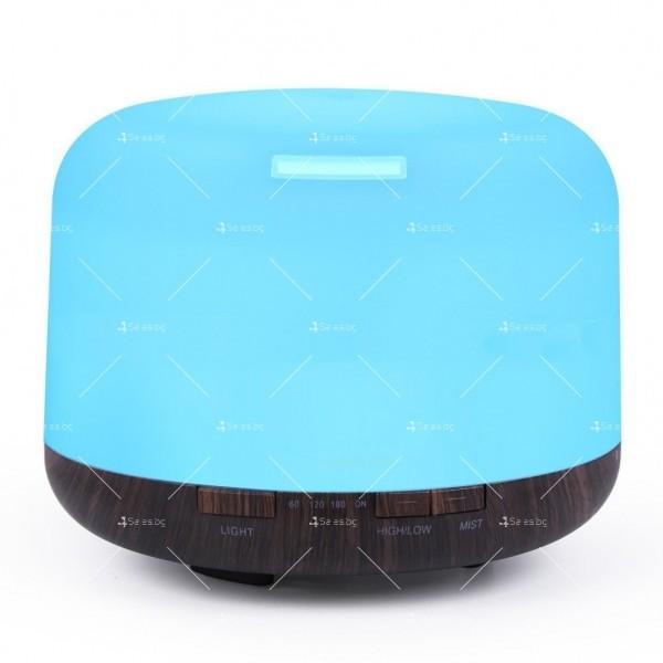 Арома дифузер, ултразвуков овлажнител за въздух със 7 цветни светлини TV833 2