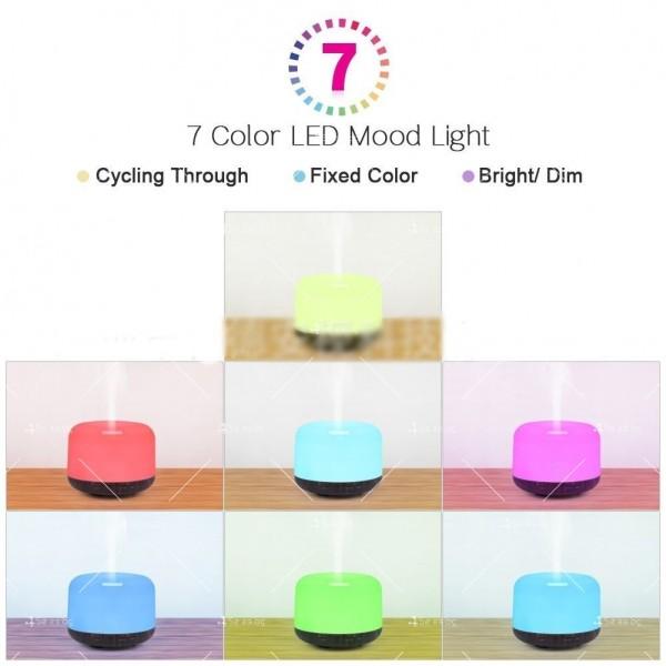 Арома дифузер, ултразвуков овлажнител за въздух със 7 цветни светлини TV833 8