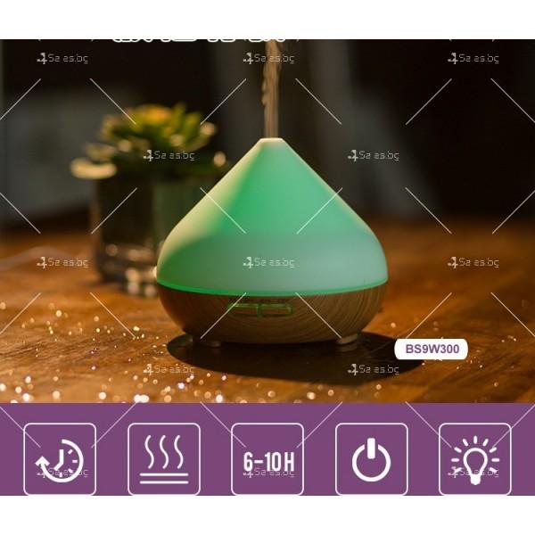 Арома овлажнител за въздух, 3 режима на работа и LED светлини TV835 2