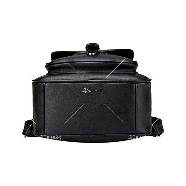 Дамска раница от висококачествена кожа в к-т с две мини чанти и портмоне BAG90 1