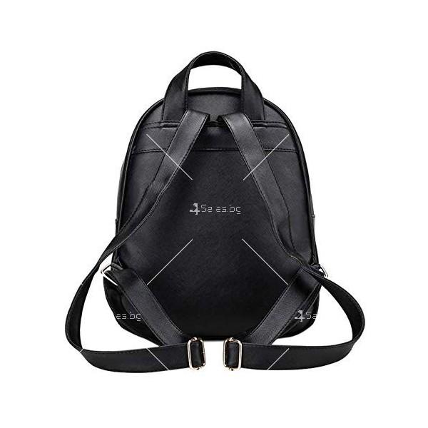 Дамска раница от висококачествена кожа в к-т с две мини чанти и портмоне BAG90 2