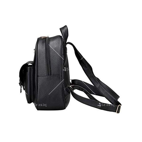 Дамска раница от висококачествена кожа в к-т с две мини чанти и портмоне BAG90 5