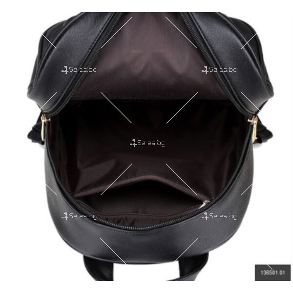 Дамска раница от висококачествена кожа в к-т с две мини чанти и портмоне BAG90 14