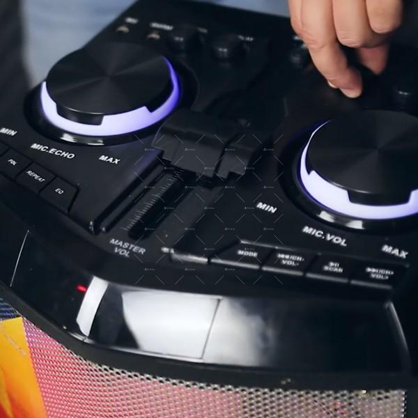Комплект от два броя мощни караоке тонколони с DJ пулт 3