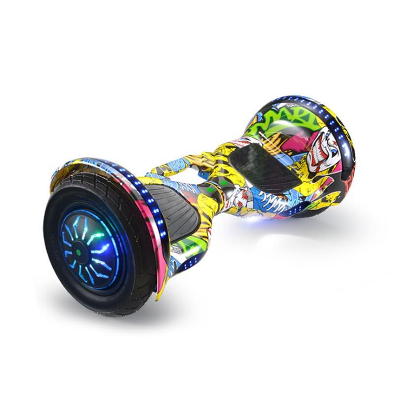 Ховърборд с 10 инчови гуми, Bluetooth връзка, високоговорител и LED светлини 2