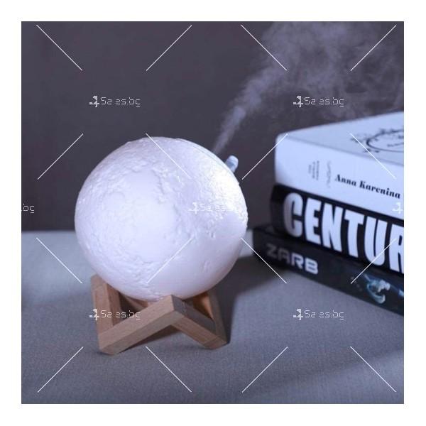 LED 3D лампа-луна с дистанционно управление TV848 13