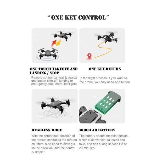 Сгъваем дрон с 4K HD заснемане и професионален DRON HJ28-GPS 11