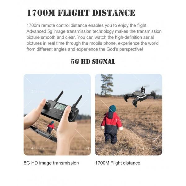 Сгъваем дрон с 4K HD заснемане и професионален DRON HJ28-GPS 12