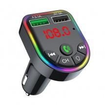 Автомобилен трансмитер с Bluetooth 5.0, MP3 плеър двойно USB бързо зарядно HF65