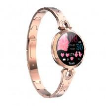 Луксозен интелигентен дамски часовник в сребрист и златист цвят SMW57