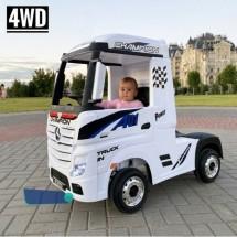 Акумулаторен камион Mercedes 4 х 4 с меки гуми, кожена седалка и MP4 тъч скрийн