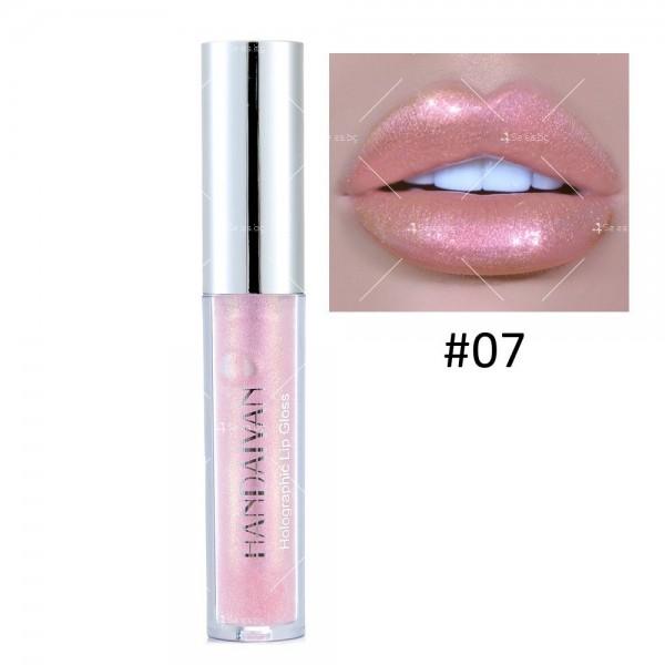 Водоустойчив, блестящ гланц за устни с дълготраен ефект- HZS316 6