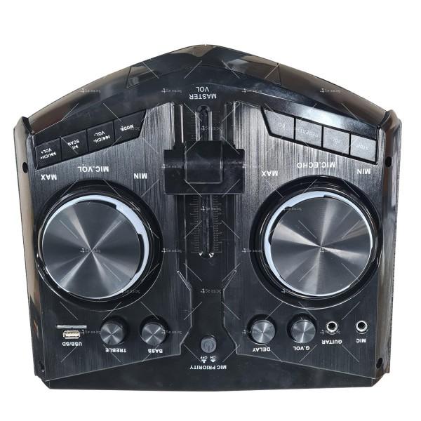 Комплект от два броя мощни караоке тонколони с DJ пулт 7