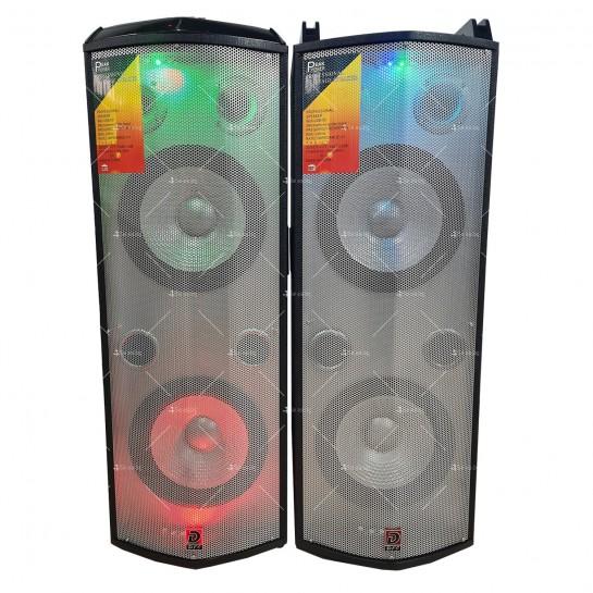 Комплект от два броя мощни караоке тонколони с DJ пулт